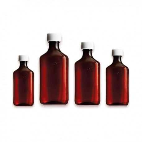 33f0b6c887e3 Premium Graduated Oval RX Bottles with Child-Resistant Caps - Amber Color